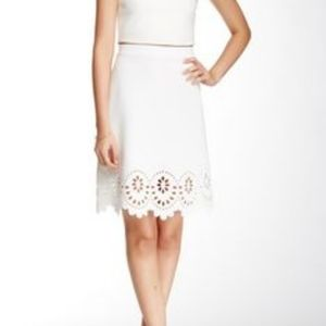 Beautiful A-line laser cut scuba skirt